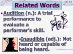 related words16