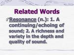 related words18