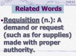 related words6
