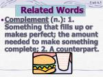 related words7