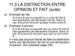 11 3 la distinction entre opinion et fait suite