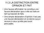 11 3 la distinction entre opinion et fait