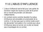 11 6 l abus d influence