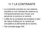11 7 la contrainte