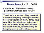 benevolence lk 10 34 35