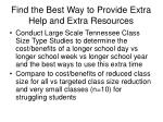 find the best way to provide extra help and extra resources