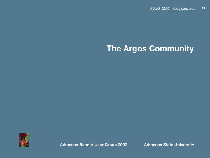 PPT - Argos - Moving into the Community PowerPoint Presentation - ID