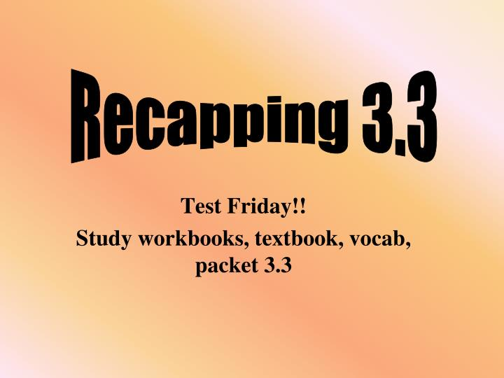 test friday study workbooks textbook vocab packet 3 3 n.