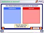 instinctive or learned