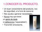 1 conocer el producto