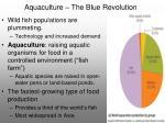 aquaculture the blue revolution