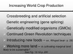 increasing world crop production