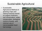 sustainable agricultural