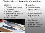 the benefits and drawbacks of aquaculture