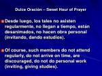 dulce oraci n sweet hour of prayer1