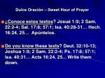 dulce oraci n sweet hour of prayer13