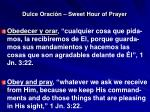 dulce oraci n sweet hour of prayer19