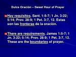 dulce oraci n sweet hour of prayer9