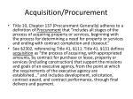 acquisition procurement1