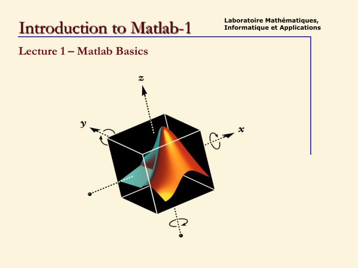 introduction to matlab 1 n.