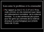 lien entre le probl me et la criminalit