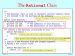 the rational class