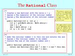 the rational class1