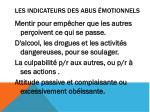 les indicateurs des abus motionnels1