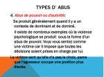 types d abus