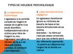 types de violence psychologique1