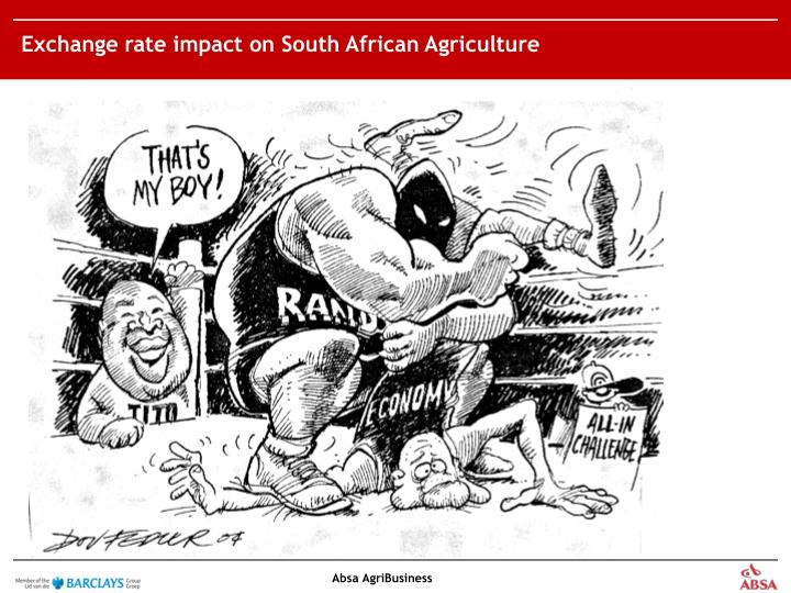 Exchange rate impact on South African Agriculture