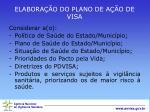 elabora o do plano de a o de visa