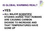 is global warming real