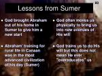 lessons from sumer1