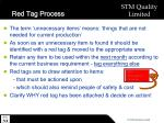 red tag process