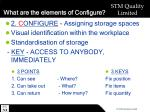 what are the elements of configure