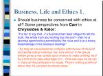business life and ethics 1