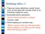 defining ethics 1