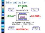 ethics and the law 1