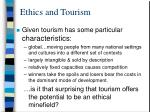 ethics and tourism