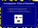 cronogramas f sico e financeiro