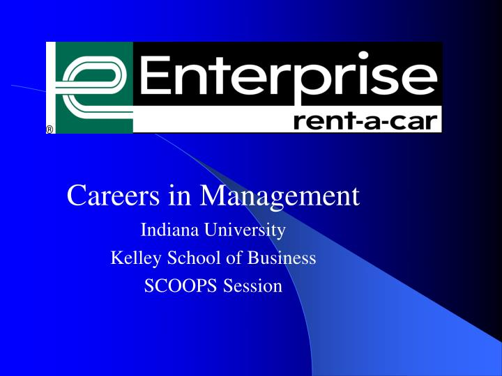 careers in management indiana university kelley school of business scoops session n.