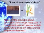 a year of snow a year of plenty1