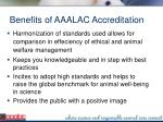 benefits of aaalac accreditation1