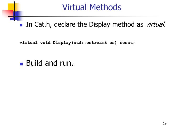 Virtual Methods
