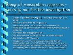range of reasonable responses carrying out further investigation