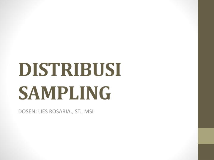 distribusi sampling n.