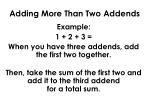 adding more than two addends