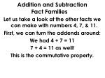 addition and subtraction fact families1