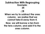 subtraction with regrouping1